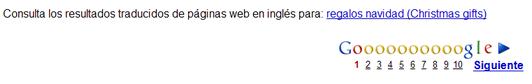 Resultados traducidos en Google
