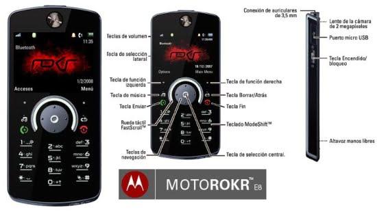 El nuevo Motorola Rokr E8