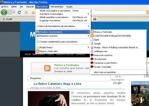 Maneja tus marcadores con Firefox 3.0.3