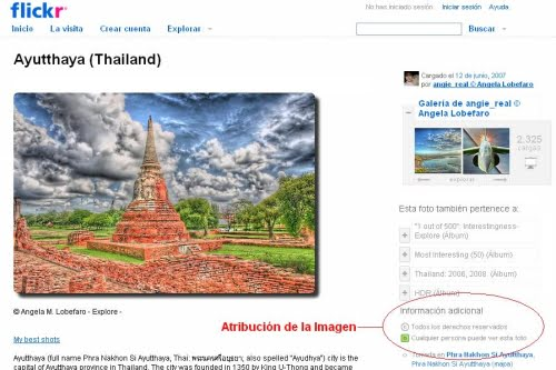 Flickr sitio de imágenes