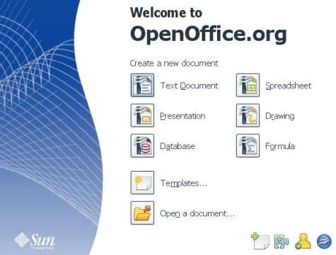 Gestor inicial start de Openoffice 3.0