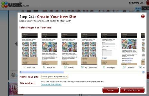 Creando el sitio de maquetas con Ubik