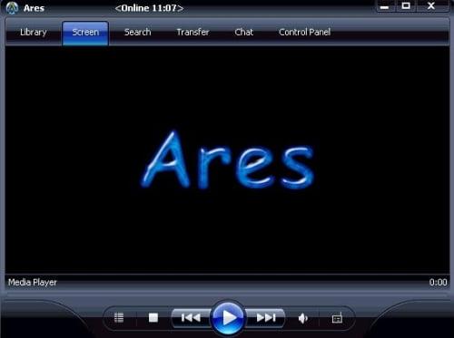 Ventana inicial de Ares