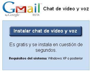 Instala el plugin de videochat de Gmail