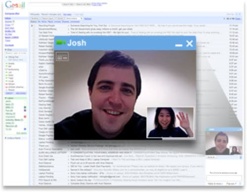 Un ejemplo del video-chat de Gmail