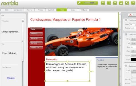 Creando un sitio Web en un entorno visual