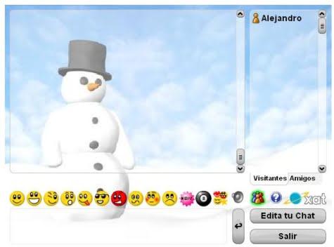 Un ejemplo de sala de chat con Xat