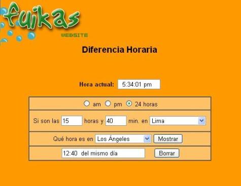 Servicio de diferencia horaria de Fuikas