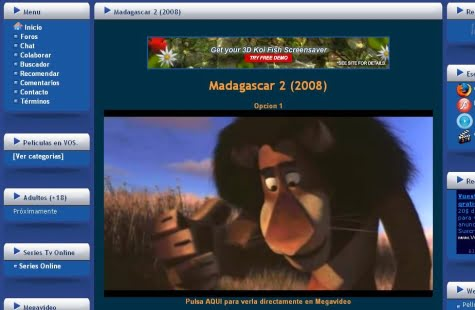 Viendo Madagascar 2 con Divxonline