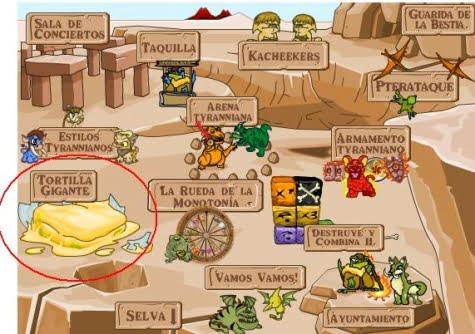 Las tierras de Tyrannia y la tortilla gigante