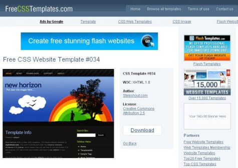 Sitio oficial de FreeCssTemplates