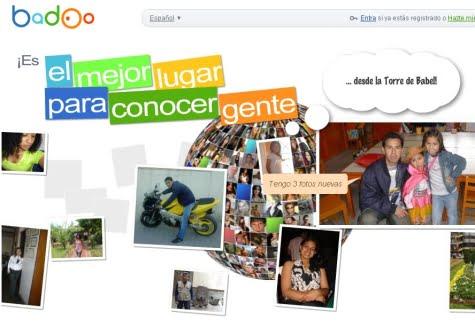 Sitio oficial de la red social Badoo