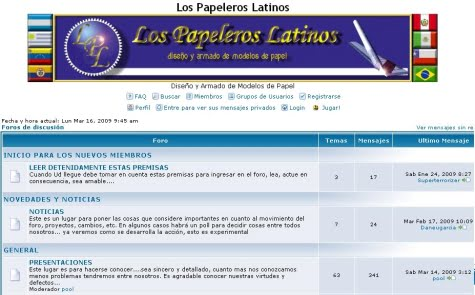 Un interesante foro de modelismo en papel - Los Papeleros Latinos