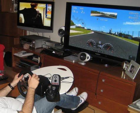 Jugando con la consola Playstation