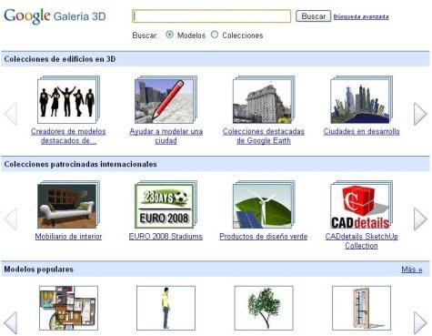 Sitio oficial de Google Galería 3D