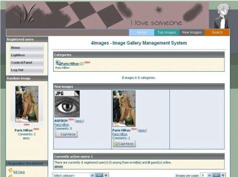 Ejemplo de un sitio creado con 4Images Galley