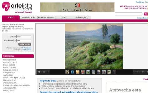 Sitio oficial de Artelista