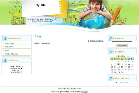 Una página Web creada con Dmon