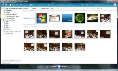 Gestor del servicio de Galería Fotográfica de Windows Live