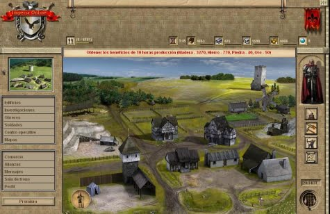 Un ejemplo de aldea en Imperia Online