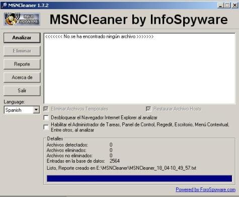 Portada de MSNCleaner