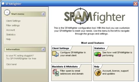 Gestor de trabajo de Spamfighter