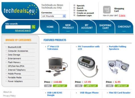 Un modelo de tienda con OsCommerce