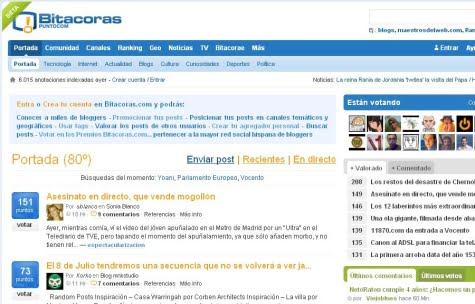 Sitio oficial de Bitacoras