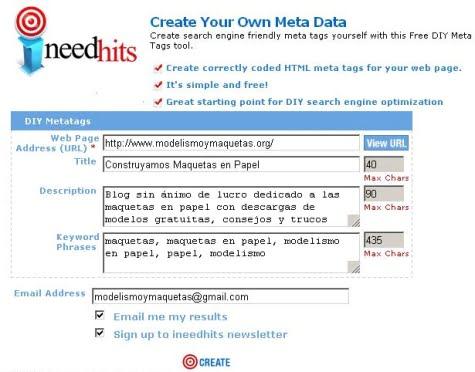 Create Your Own Meta Data