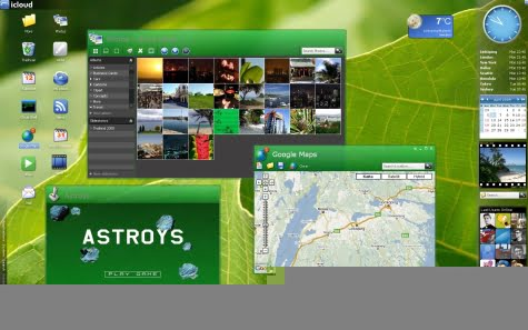 El escritorio del sistema operativo Icloud