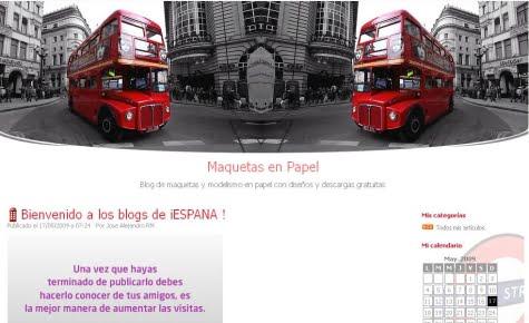 Un modelo de Blog de Iespana