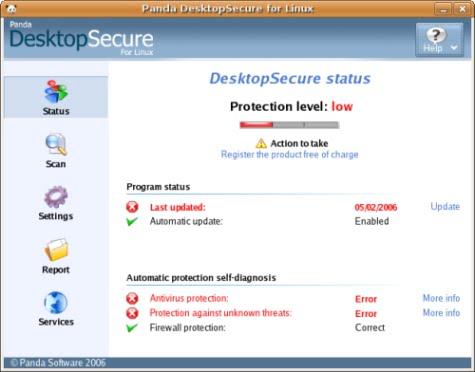 Panda DesktopSecure para Linux