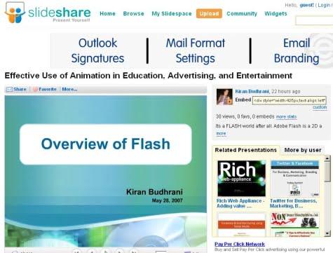 Diapositivas disponibles en Slideshare