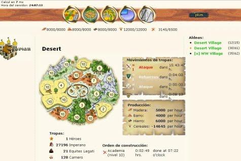 Un ejemplo de pantalla de juego personalizada