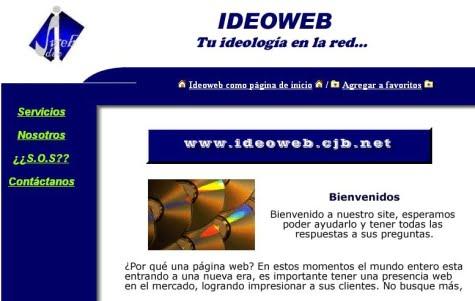 Un sitio Web creado con el servicio de Galeón