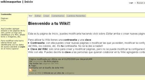 Un ejemplo de Wiki con WikiOle
