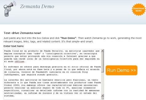 Copiando el artículo en Zemanta
