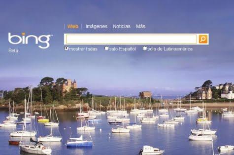 Imagen del nuevo buscador Bing