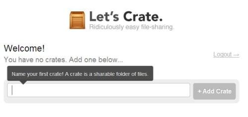 Herramienta de Crate para subir archivos
