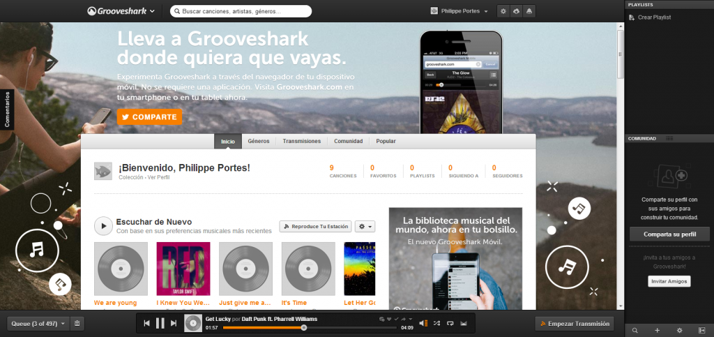 Captura Grooveshark