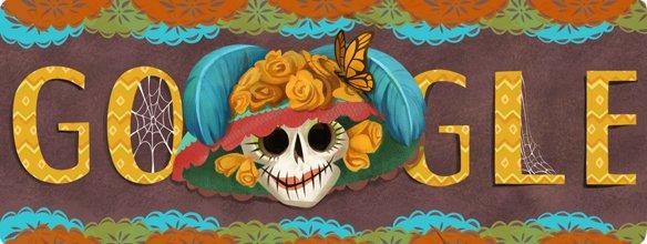 Logo de Google Día de Muertos.