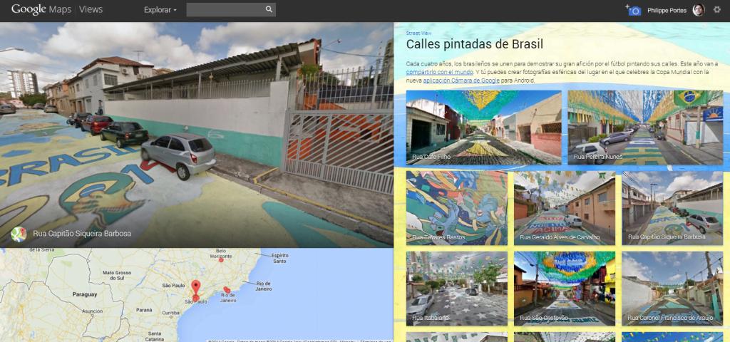 Google: calles pintadas de Brasil por el Mundial