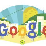 Google doodle, logo por el Mundial de Brasil