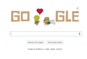 Google doodle por San Valentín