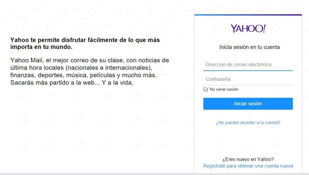 Iniciar sesión en Yahoo! Mail