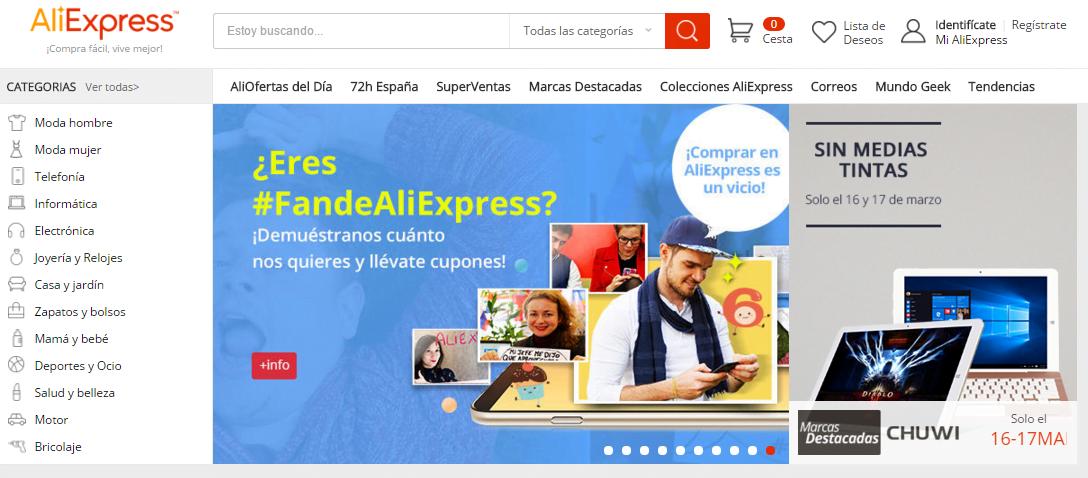 Compra barato desde España con AliExpress en español