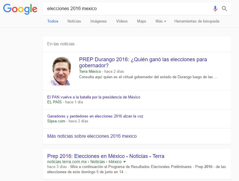 Cambio de Google en noticias