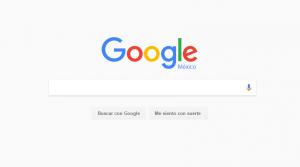 Cambio en la portada de Google