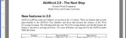 AbiWord, un procesador de texto libre
